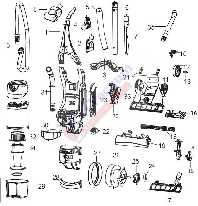 Bissell 3990 6393 Velocity Total Floors Upright Vacuum