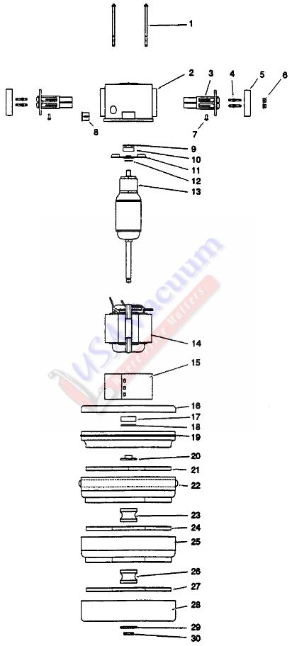 ametek motor 3 stage 7 5 bp pd 120v