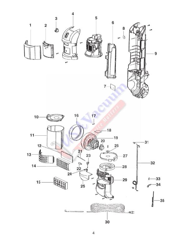 Eureka 2999 Bagless Upright Vacuum Parts Usa Vacuum
