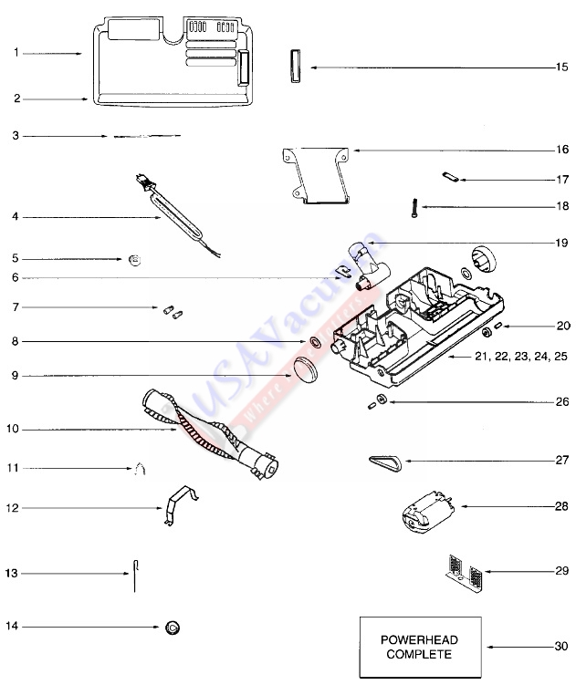 eureka 6996 oxygen canister vacuum cleaner parts
