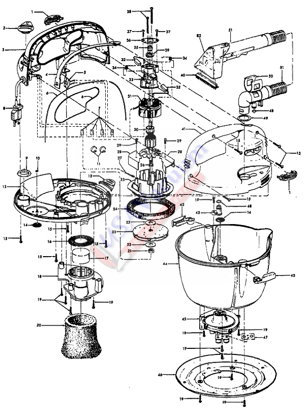 Hoover F5411 SteamVac Jr. Parts List & Schematic, Hoover Model F5411 Parts List & Schematic