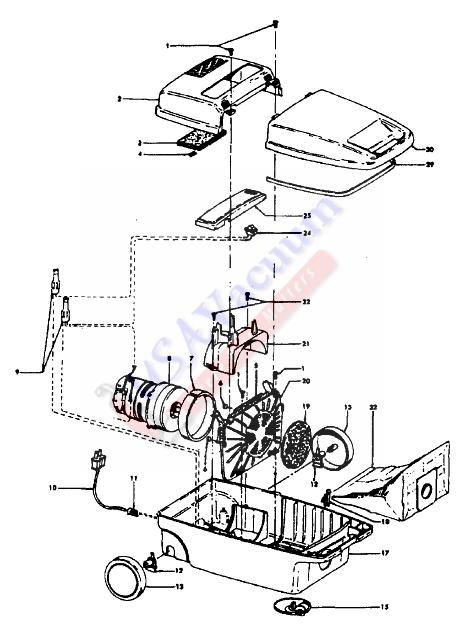 hoover s3203 spirit vacuum cleaner parts