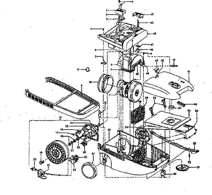 hoover s3530 powermax canister vacuum parts list  u0026 schematic