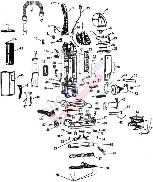 Hoover U5750 WindTunnel Bagless Upright Vacuum | USA Vacuum on