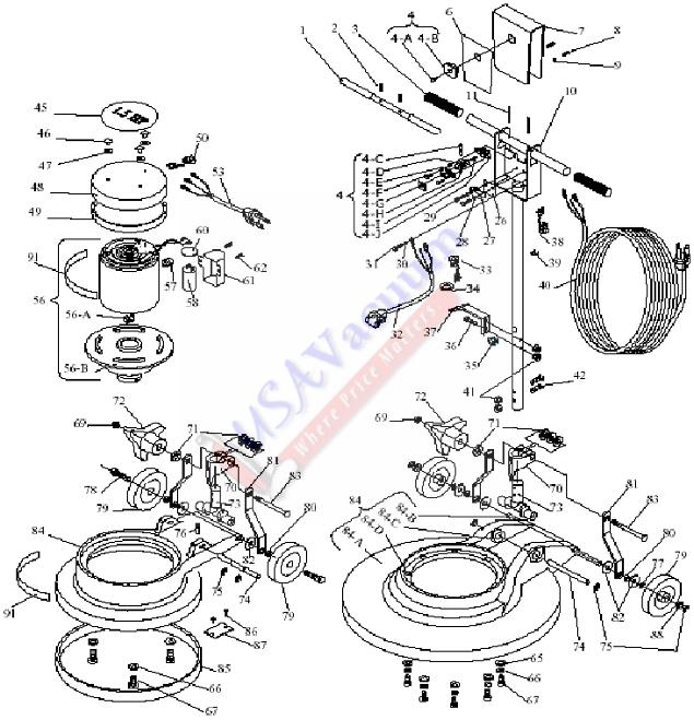 Floor Machine Parts : Koblenz rm commercial industrial floor machine