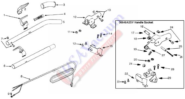 wiring diagrams   sanitaire sc886 parts