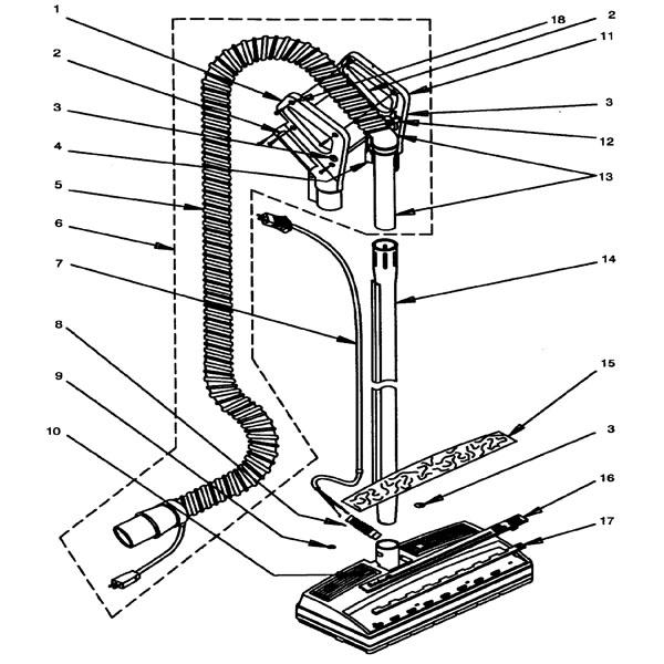 rainbow power nozzle assembly