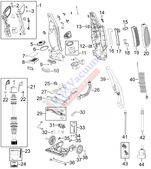 bissell 5770 5990 6100 healthy home upright vacuum parts