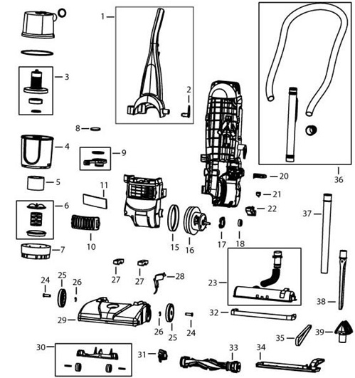 bissell 6582 6583 powerforce bagless upright vacuum parts usa vacuumbissell 6582 6583 powerforce bagless upright vacuum parts list \u0026 schematic