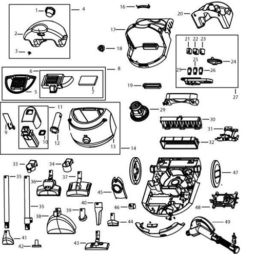 bissel green machine parts