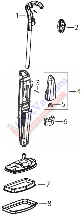 Bissell 21h6 Steam Mop Parts Usa Vacuum