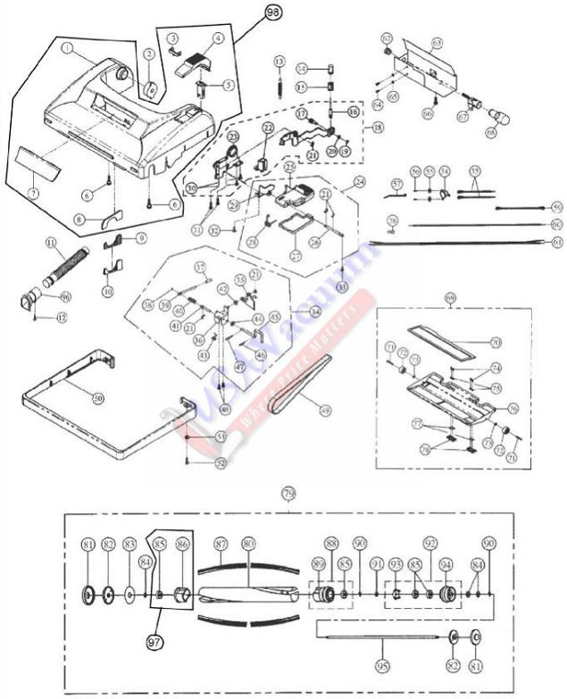 cirrus cr99 upright vacuum cleaner parts