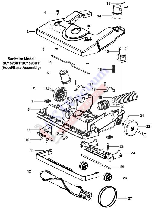 Sanitaire Sc4570 Hepa Vacuum Cleaner Parts Usa Vacuum