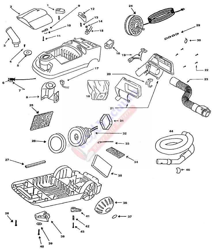 eureka 6865 power team canister vacuum cleaner parts usa vacuum eureka 6865 power team canister vacuum cleaner parts list schematic