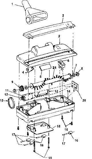 Hoover S2610 Quik Broom Vacuum Parts List Schematic
