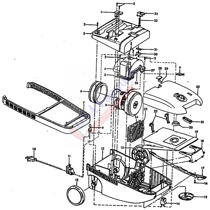 hoover s3561 futura canister vacuum parts list  u0026 schematic
