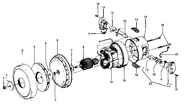 Hoover S3639 Windtunnel Canister Vacuum Parts List Schematic