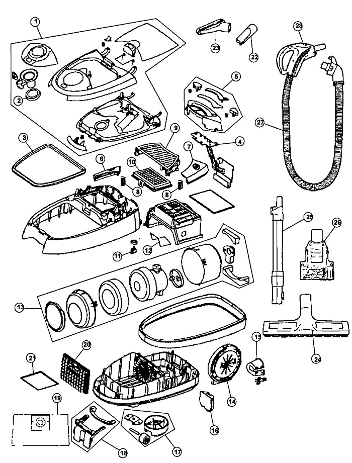 hoover hoover s3670 windtunnel canister vacuum parts list