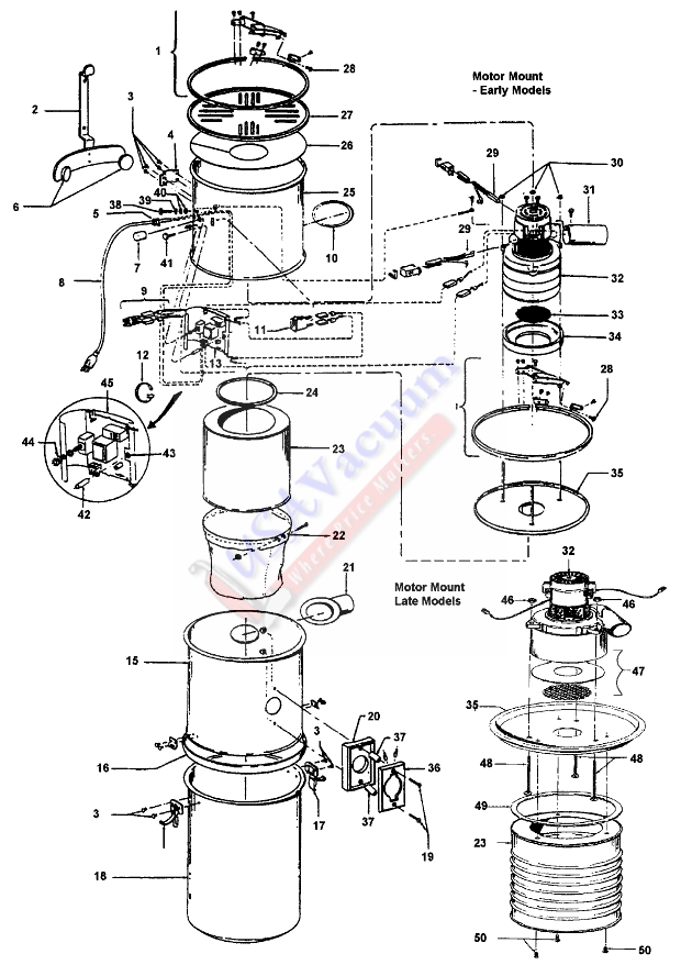 hoover s5673 central vacuum system canister parts usa vacuum rh usavacuum com beam central vacuum schematic central vacuum wiring schematic