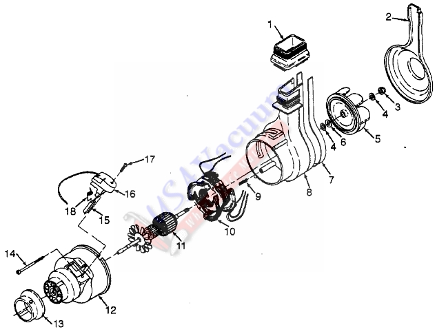 Hoover U3305 Concept One Upright Vacuum Parts List & Schematic