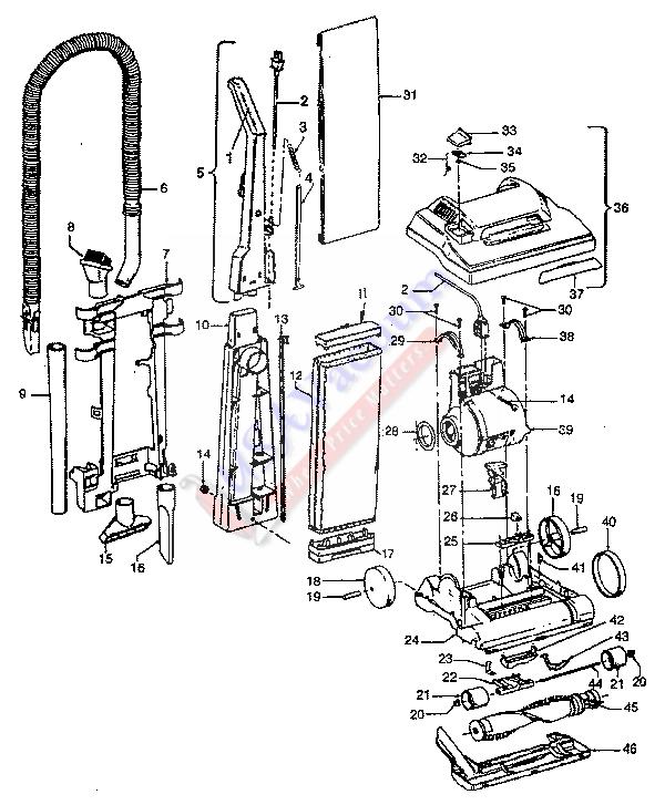 Hoover U4293 - Encore Supreme Energy Upright Vacuum