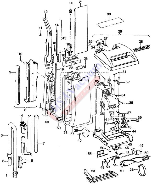 hoover u5089 legacy ii upright vacuum parts