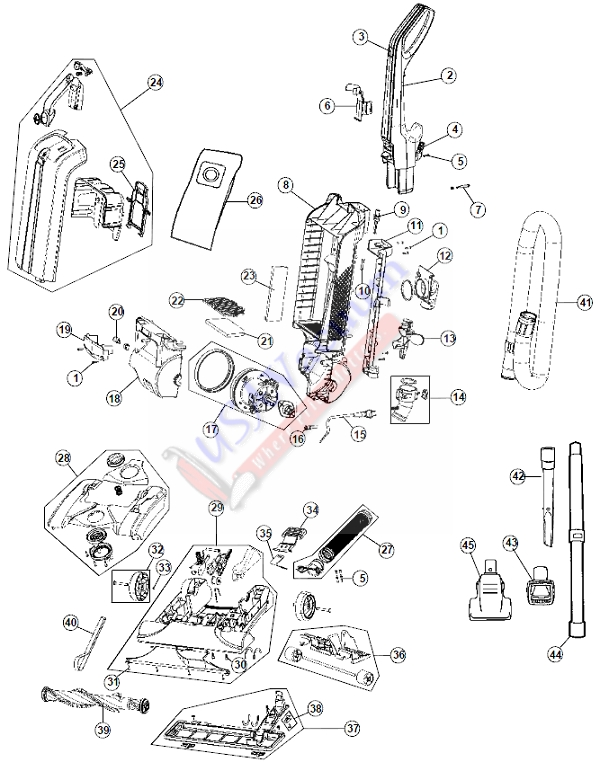 hoover uh30600 windtunnel max bagged upright vacuum | usa ... hoover windtunnel bagged diagram hoover washing machine wiring diagram